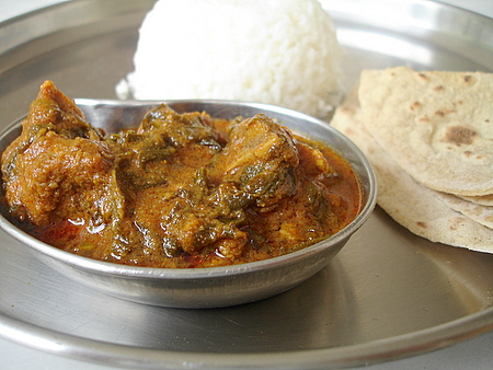 goat meat mutton do pyaaza Indian curry cooking classes